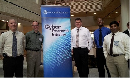 Three Lewis University students participated in the Cyber 9/12 Student Challenge, sponsored by the Atlantic Council.