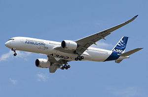 300px-A350_First_Flight_-_Low_pass_02