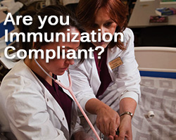 DON'T let your registration be blocked!  File your immunization requirements with Health Services.