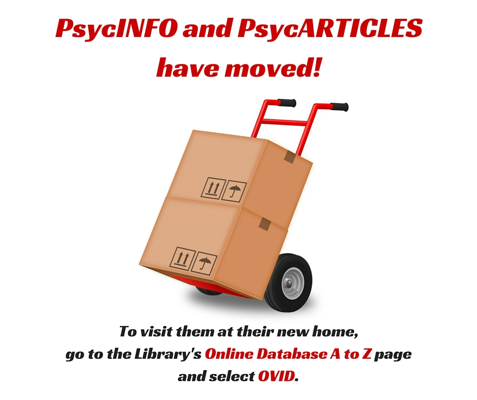 PsycINFO and PsycARTICLES have moved!