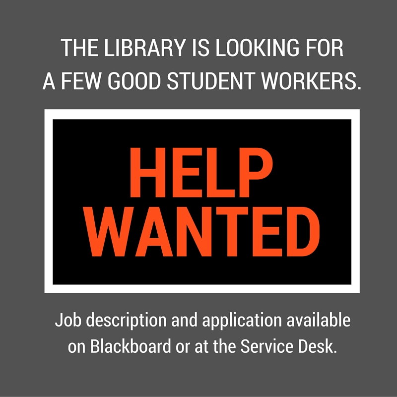Student workers needed