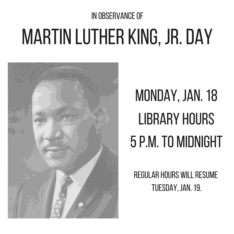 Holiday hours MLK
