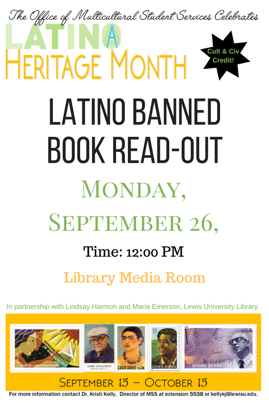 Banned Books Week Read-Out poster