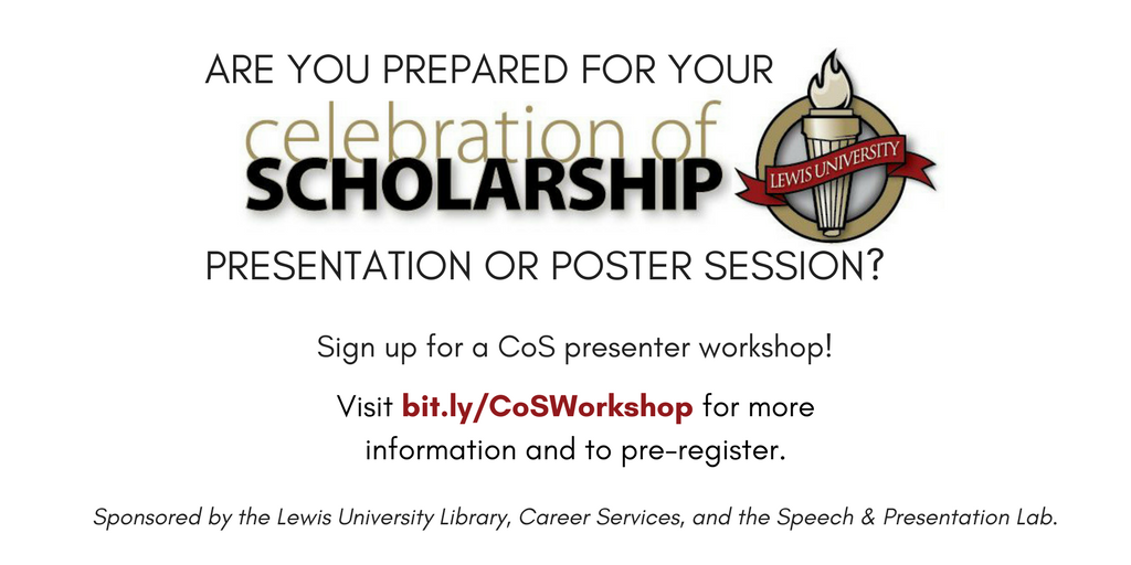Workshops for accepted Celebration of Scholarship student presenters