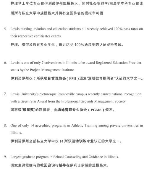 Lewis University International Student Services Resources
