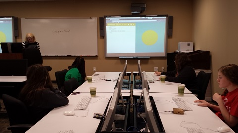 Girls Learn to Develop Interactive Websites