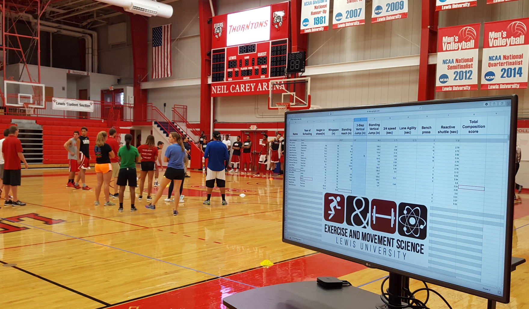 What is an Athletic Combine and why are Lewis University students working them?