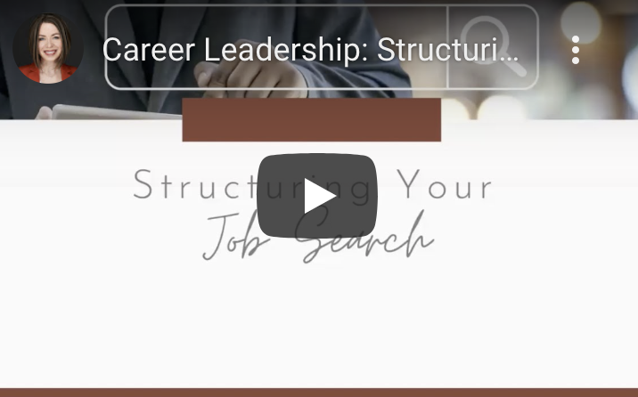 Structuring Your Job Search