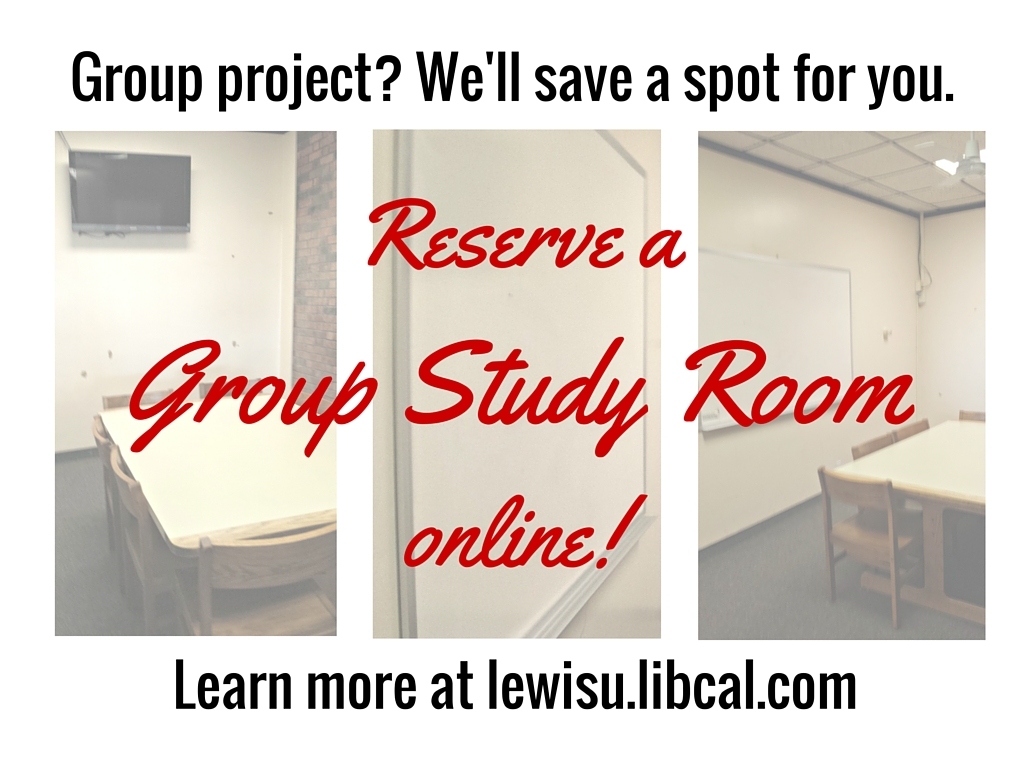 Group study room reservations