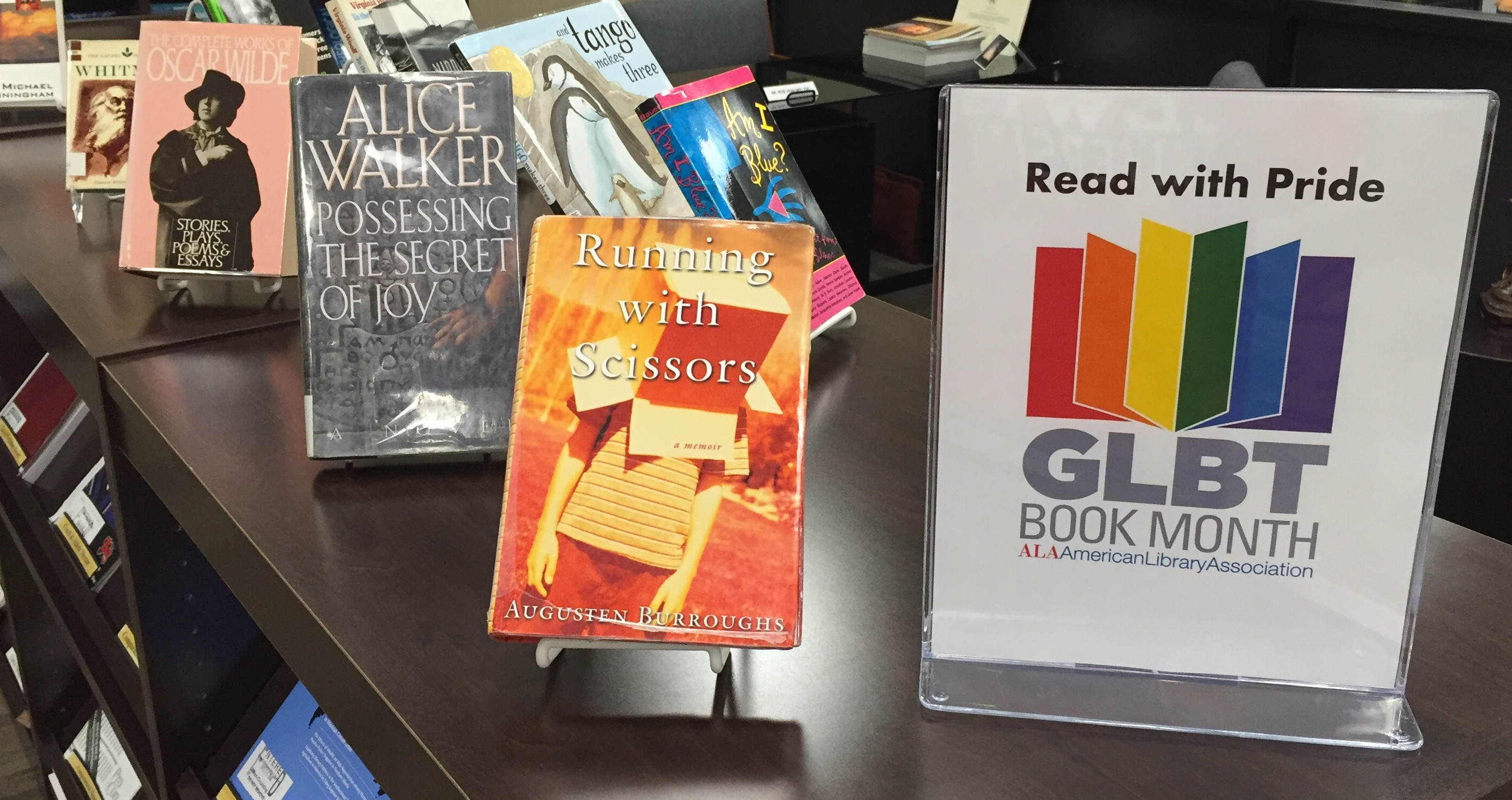 GLBT book display 1