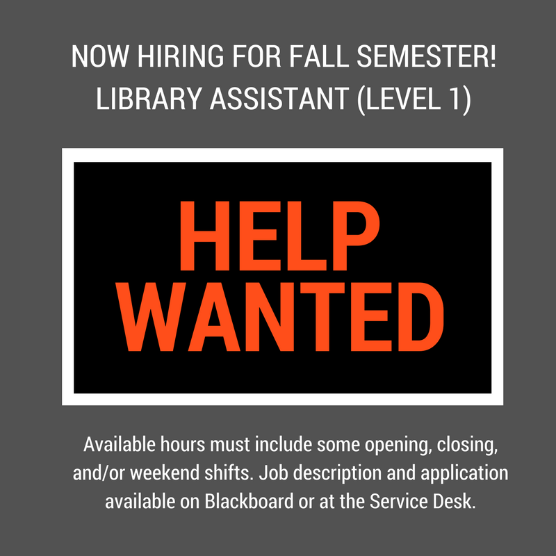 Student workers needed 0817