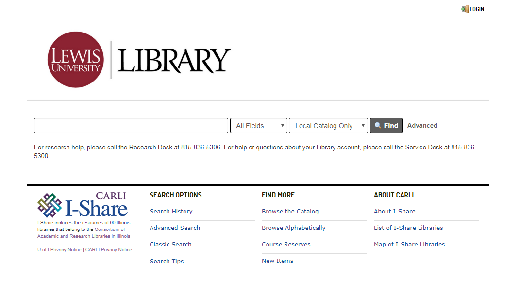 New library catalog interface